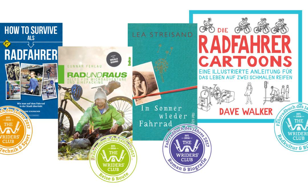 Rückblick 19.12.2017: TWC-Blogger wählen die besten Fahrradbücher des Jahres 2017