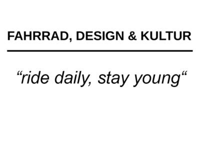 Fahrrad, Design & Kultur